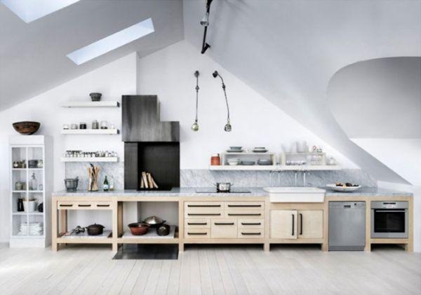 Műteremlakás konyhája