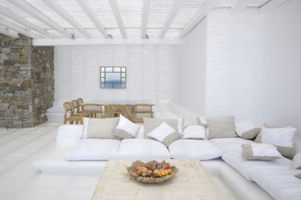 Görög terasz modern kanapé mediterrán