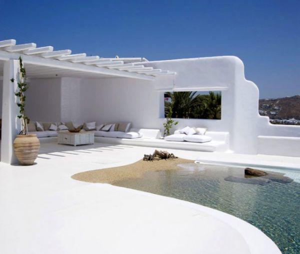 Görög terasz mediterrán stílusban