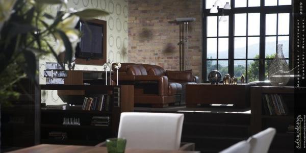 Loft lakás berendezése Adamdesign