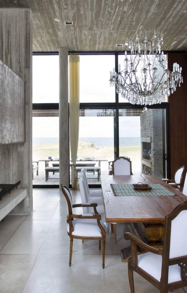 Óceánparti modern ház eklektikus lakberendezés