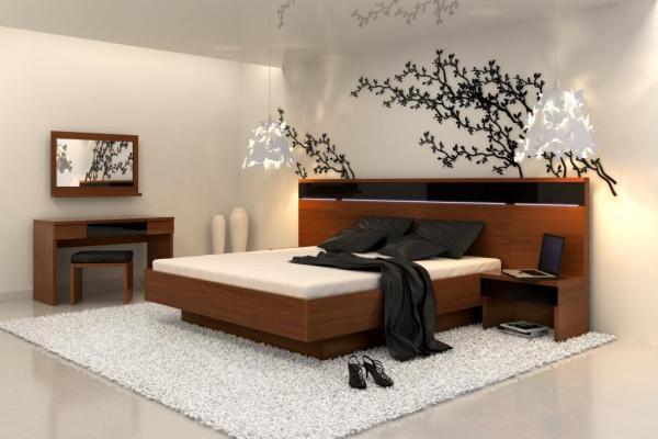Klose hálószoba, franciaágy, éjjeliszekrény