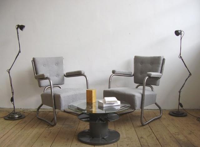 Csővázas Bauhaus fotel