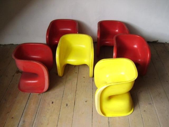 Műanyag svéd gyerekszékek