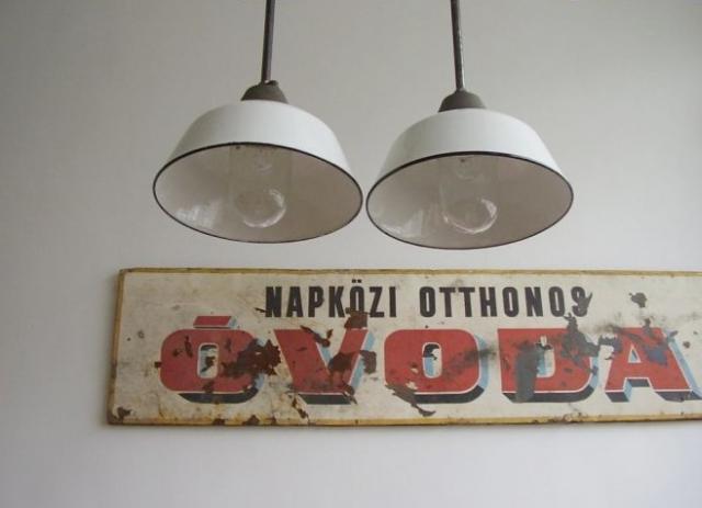 Zománcozott ipari lámpa