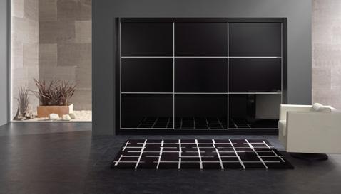 Aluminium vékony keretes tolóajtós szekrény, magasfényű mdf ajtó