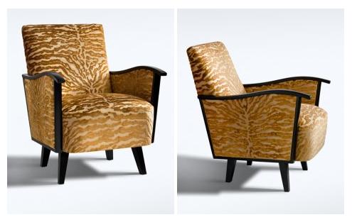 Felújított és újrakárpitozott fotel