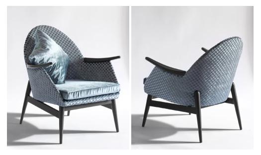 Felújított és újrakárpitozott retró fotel