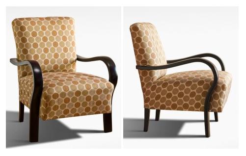 Felújított és újrakárpitozott art deco fotel