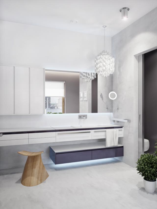 Fotórealisztikus látványterv fürdőszobabútor