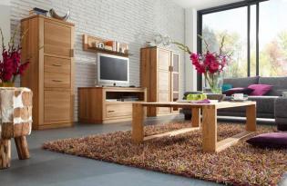 Modern tölgyfa nappali és étkező bútorok a Cassandra Lakberendezési Stúdióból