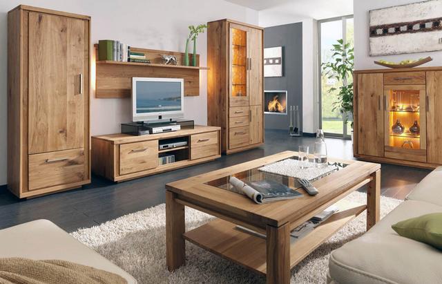 Modern tölgyfa nappali és étkező bútorok