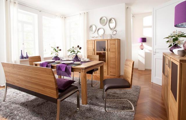 Modern étkezőasztal paddal