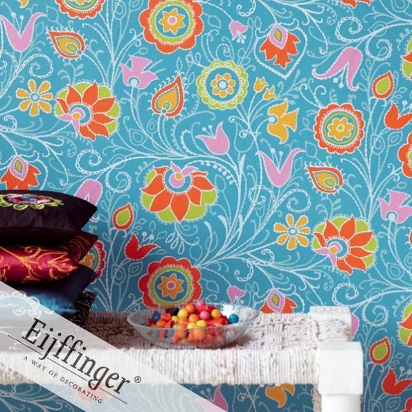 Eijffinger retró-vintage virágos tapéta