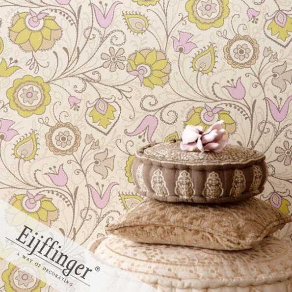 Eijffinger retró-vintage tapéta virágos