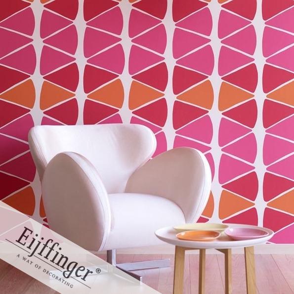 Eijffinger retró-vintage tapéta szögletes minta