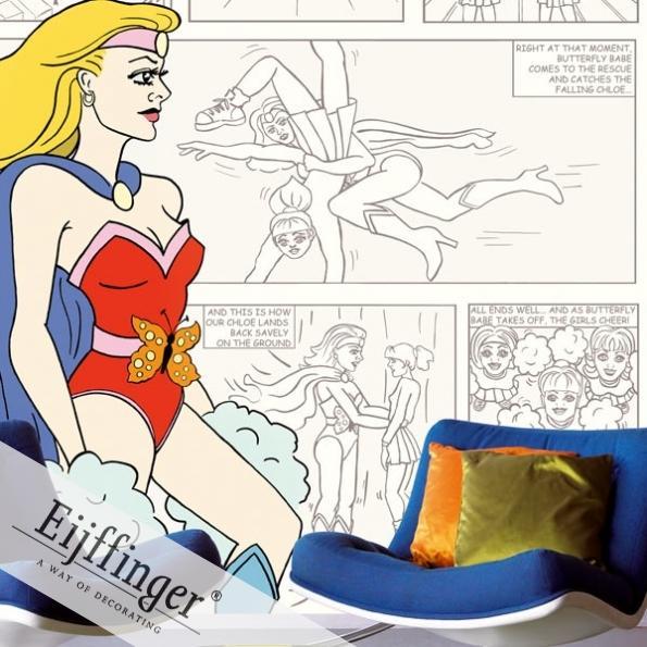 Eijffinger retró-vintage tapéta comics