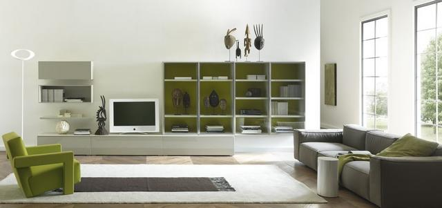 Europeo modern olasz nappali bútor és könyvespolc összeállítások