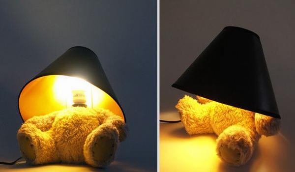 Teddy mackós lámpa
