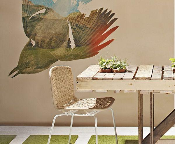 Kerti asztal rusztikus stílus raklapból