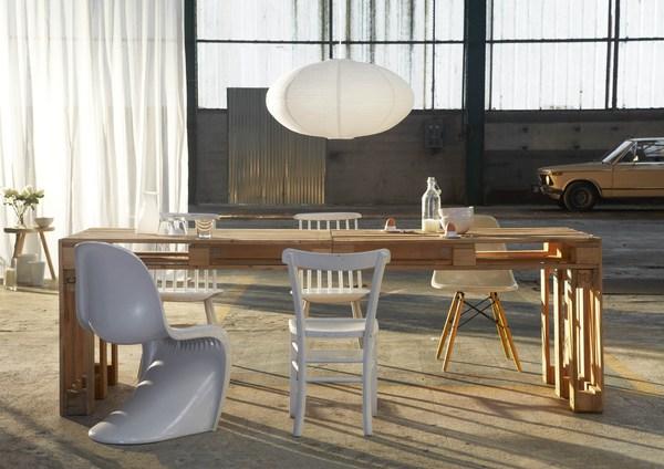 Raklap asztal házilag