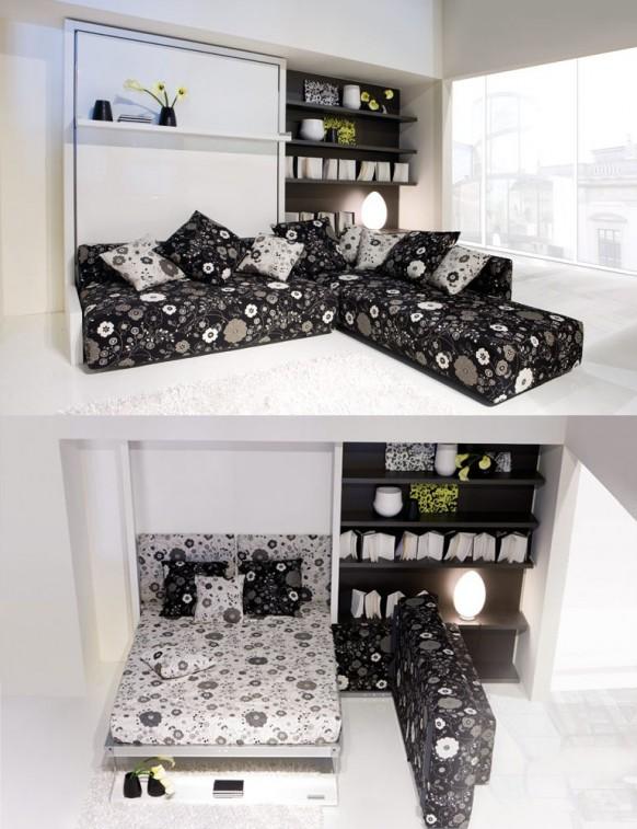Kanapéra hajtható ágyszekrény