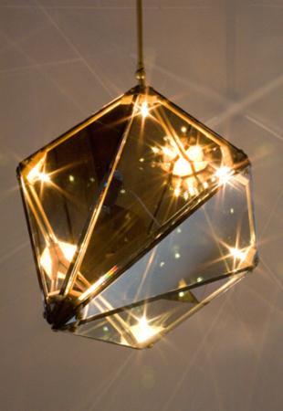 Kristály alakú design lámpa