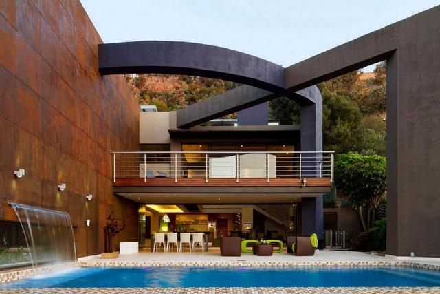 Modern kerti bútor a teraszon