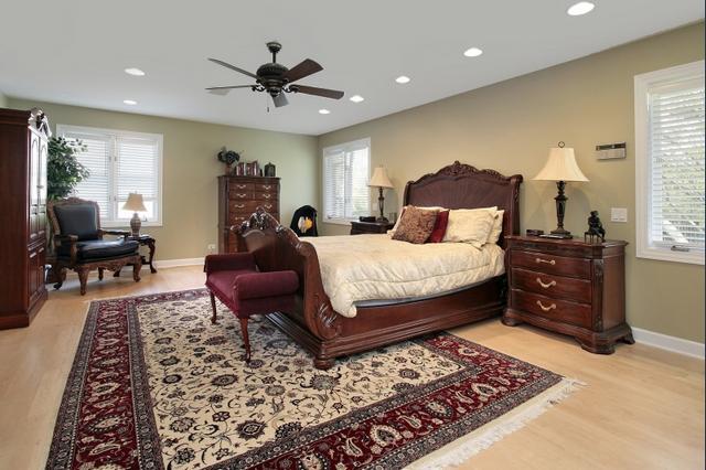Kézicsomózású szőnyeg hálószoba