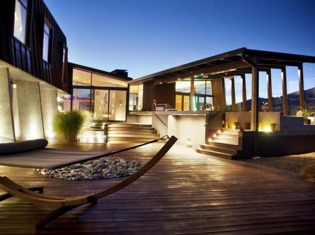 Belső udvar ultramodern ház