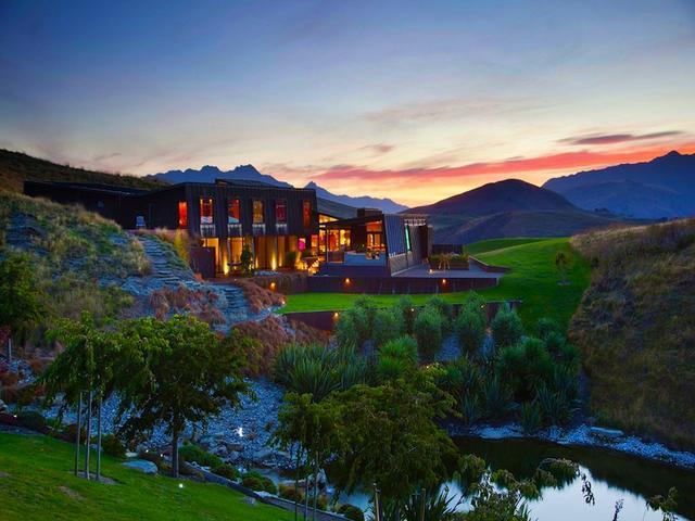 Kortárs moden ház Új-Zéland