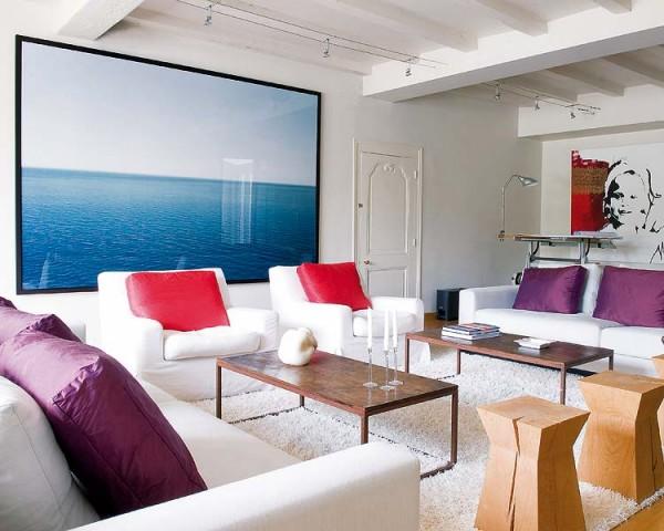 Modern nappali bútor fehér bútorokkal