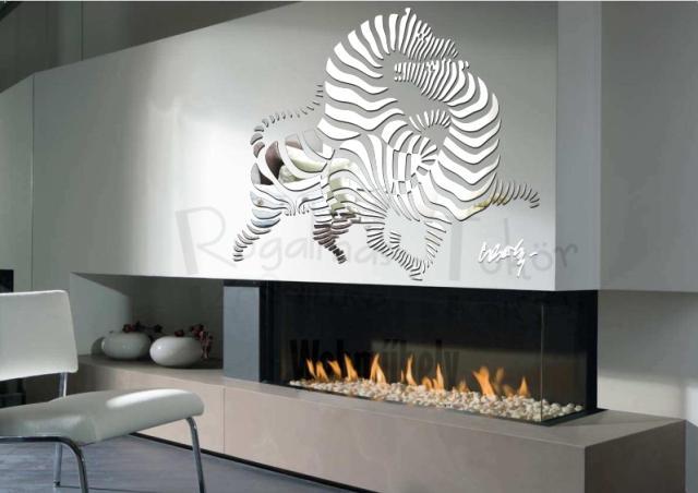 Valérie Bergée Vasarely zebrak tükör