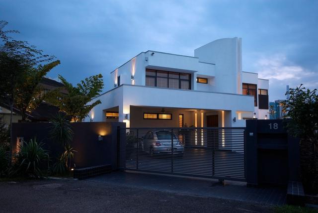 Bauhaus stílusú ház Kuala Lumpur