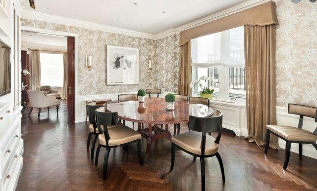 Modern penthouse lakás étkezője