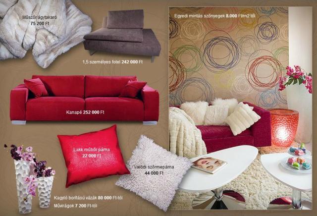 Piros, vörös fehér Trendi lakberendezés és lakásdekoráció a Müller Mónika Enteriőrben