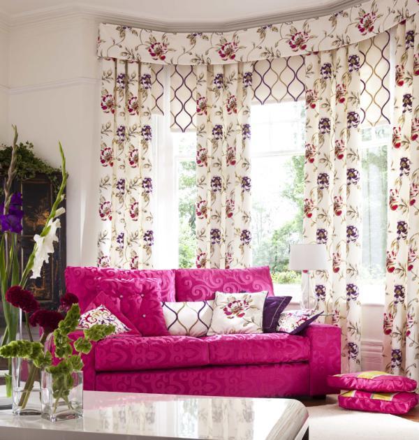 Dekorfüggöny virágos