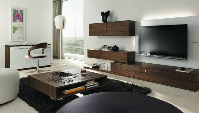 Modern osztrák tartós tömörfa étkező és nappali bútor