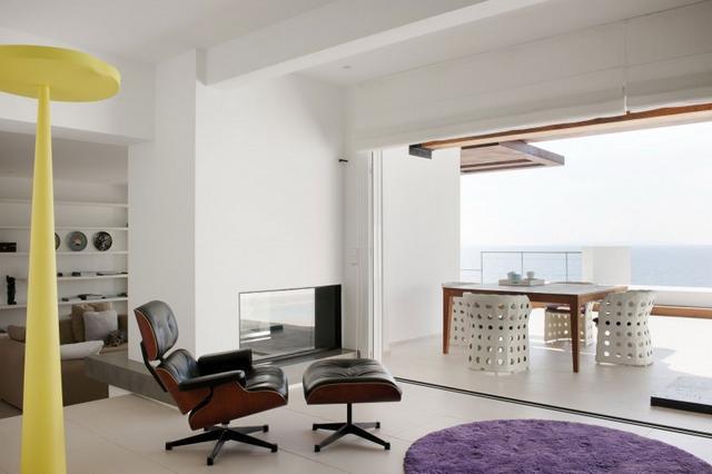 Eames lounge szék mediterrán villa