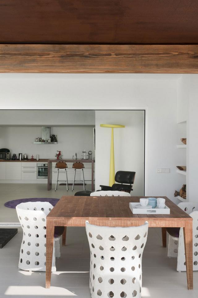 Modern bútorok fonott szék étkező garnitúra