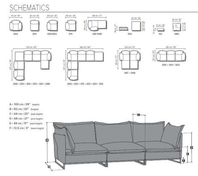 Natuzzi Cambre moduláris ülőgarnitúra modellek