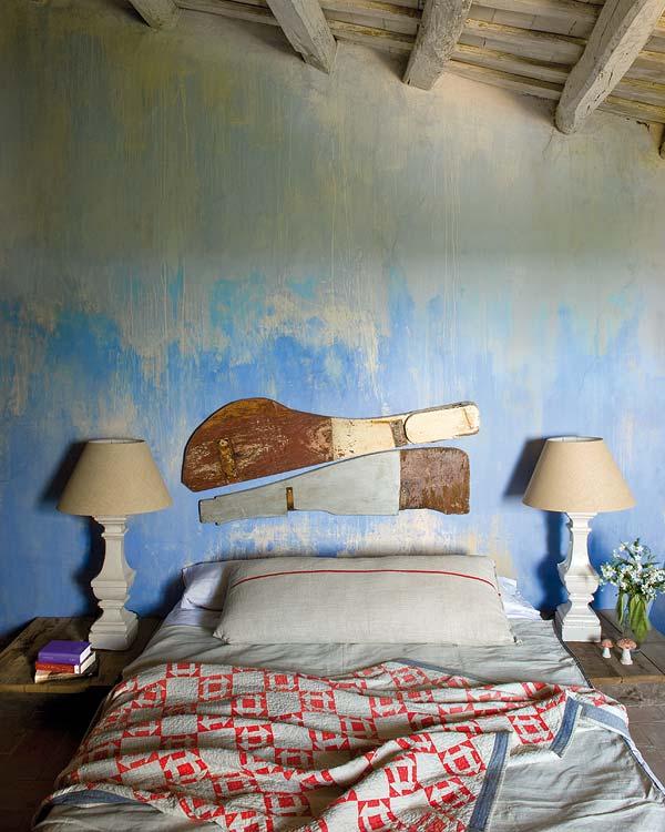 Maszatolt falú hálószobafal
