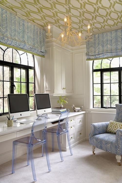 Dolgozószoba lakberendezési ötlet