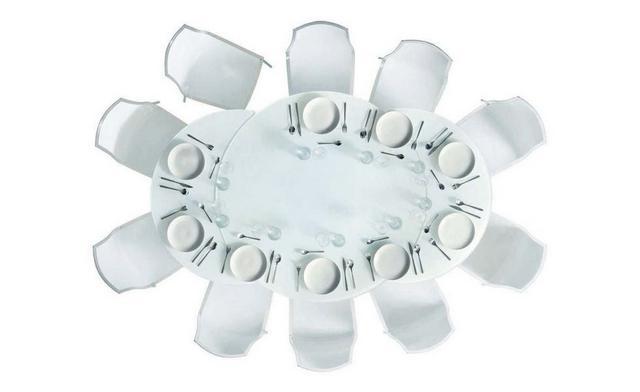 Giro olasz étkezőasztal üveglappal