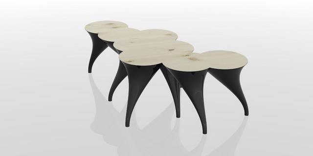 Panic opera kávézóasztal Dima Loginoff