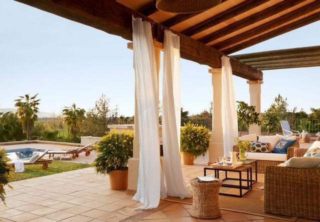 Mediterrán ház Mallorcán - Kültéri függöny