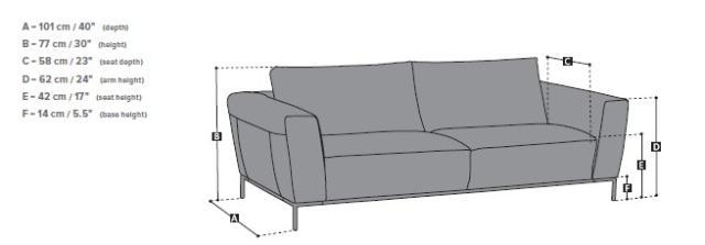 Natuzzi kanapé rajz