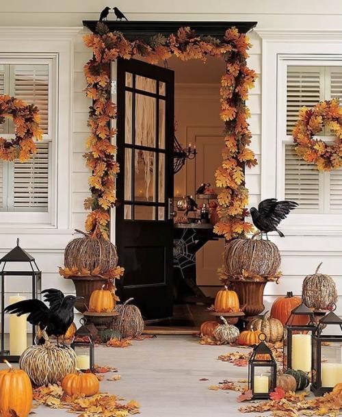 Őszi dekoráció bejárati ajtó
