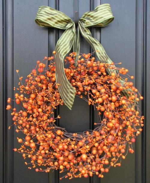 Őszi ajtódísz koszorú