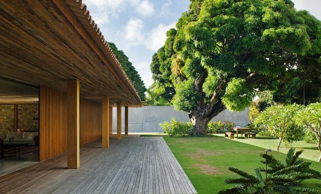 Belső kert minimalista ház